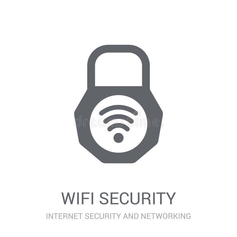 Icono de la seguridad de Wifi  ilustración del vector
