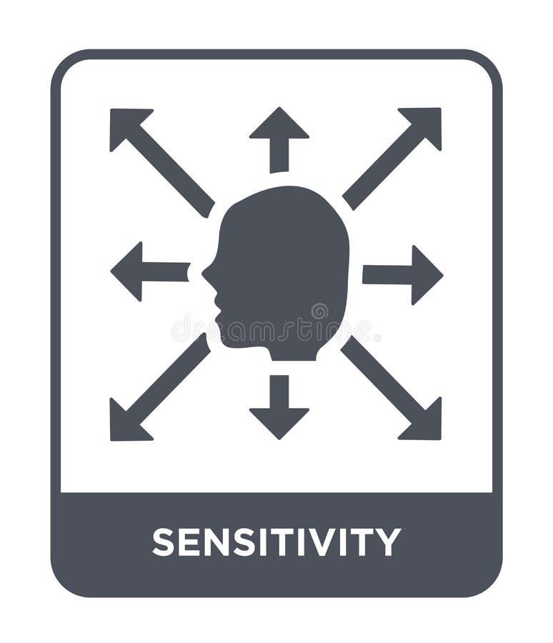 icono de la sensibilidad en estilo de moda del diseño icono de la sensibilidad aislado en el fondo blanco icono del vector de la  ilustración del vector