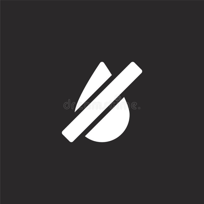 Icono de la sequ?a Icono llenado de la sequía para el diseño y el móvil, desarrollo de la página web del app icono de la sequía d libre illustration