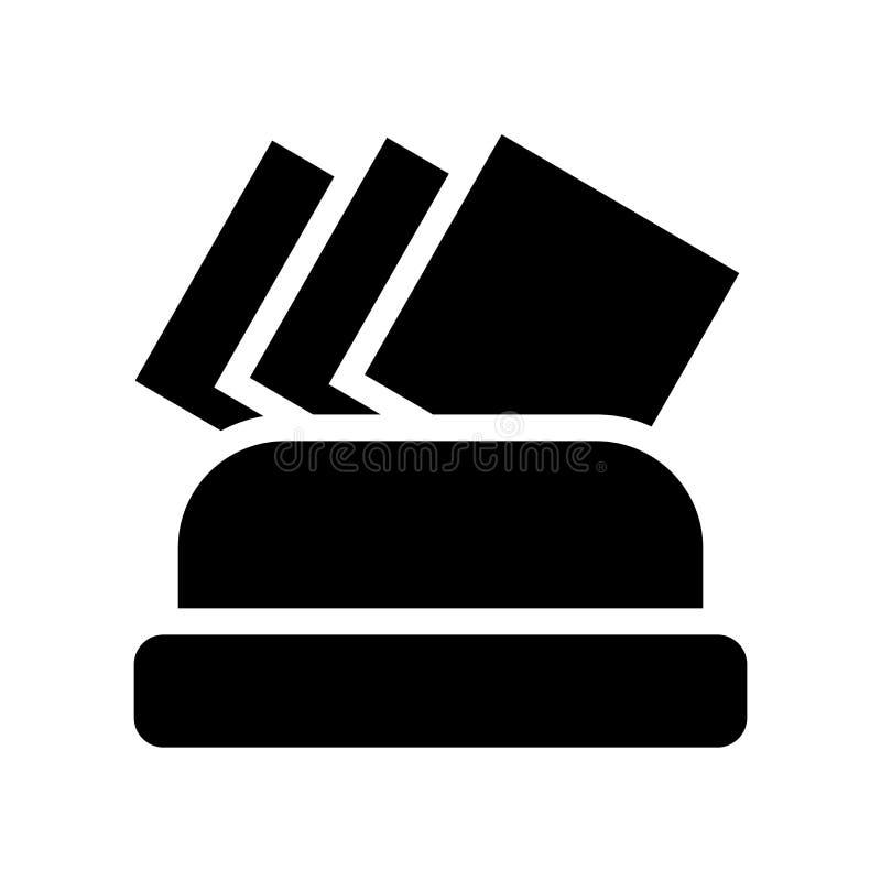 Icono de la servilleta  stock de ilustración