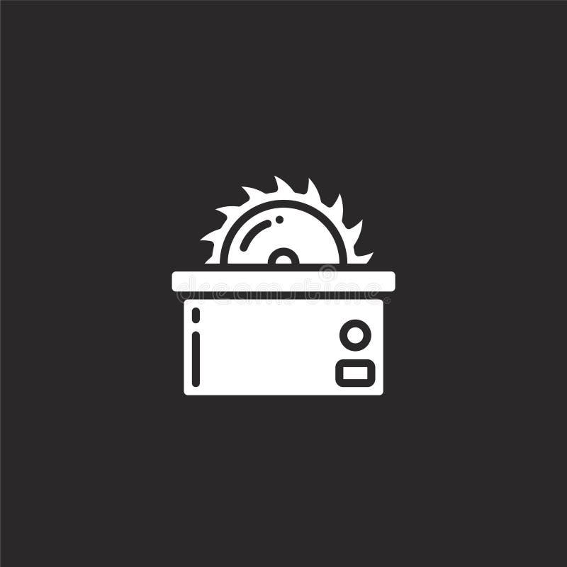 Icono de la sierra Llenado vio el icono para el diseño y el móvil, desarrollo de la página web del app icono de la sierra de la c libre illustration
