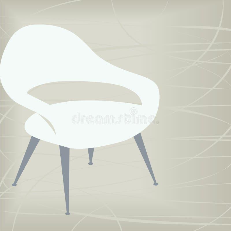 Icono de la silla de la vendimia ilustración del vector