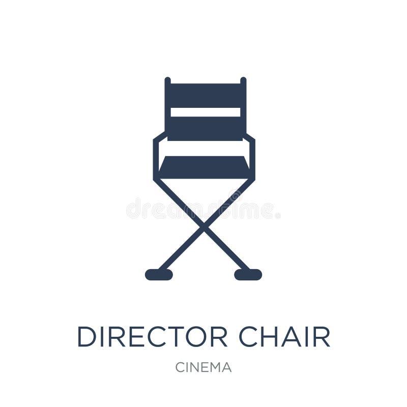 Icono de la silla del director  ilustración del vector