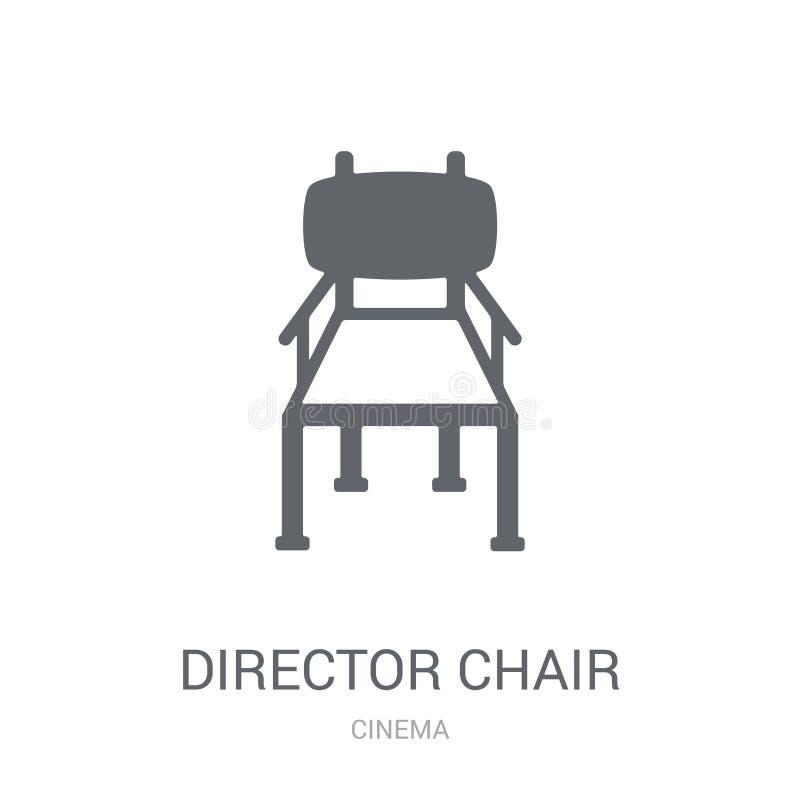 Icono de la silla del director  stock de ilustración