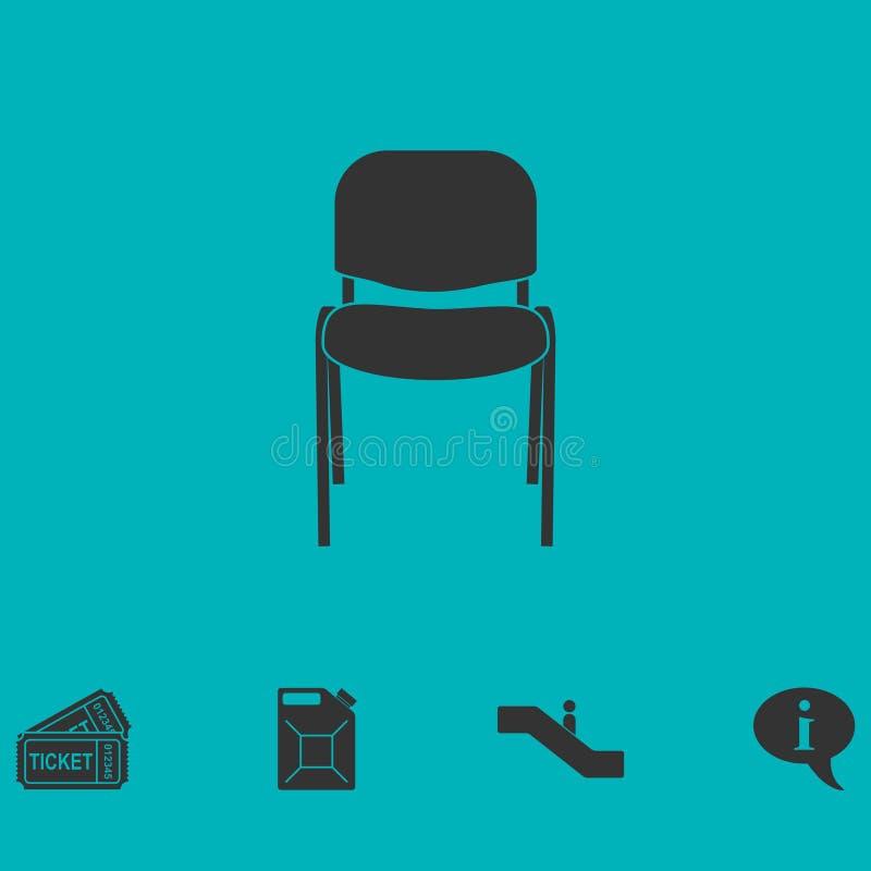 Icono de la silla plano libre illustration