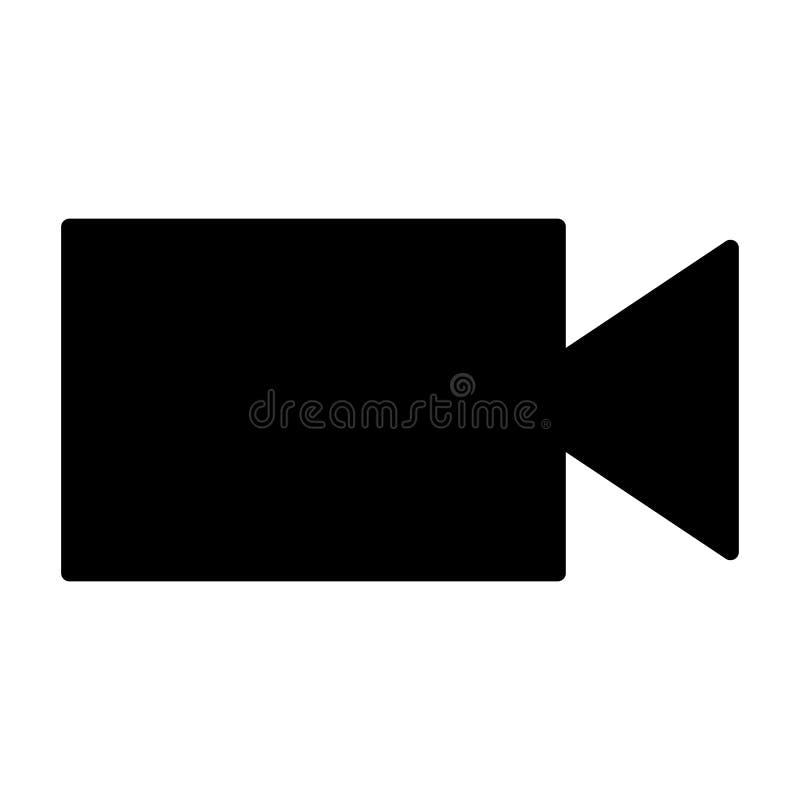 Icono de la silueta de la cámara de vídeo Ilustración del vector stock de ilustración
