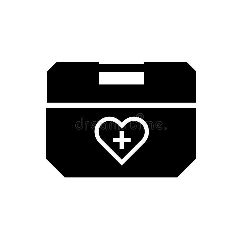 Icono de la silueta de la caja del refrigerador del órgano humano ilustración del vector