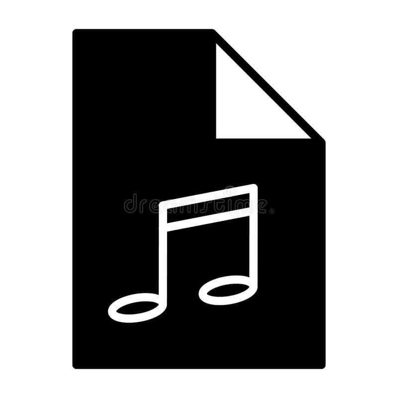 Icono de la silueta del fichero de la música Formato de audio Símbolo Mp3 Vector libre illustration