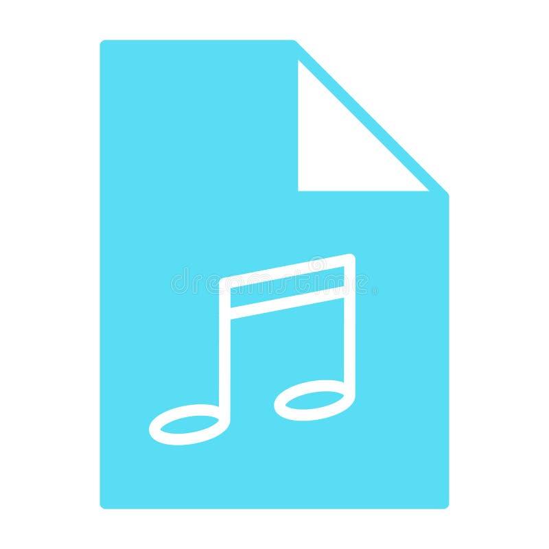 Icono de la silueta del fichero de la música Formato de audio Símbolo Mp3 Vector stock de ilustración