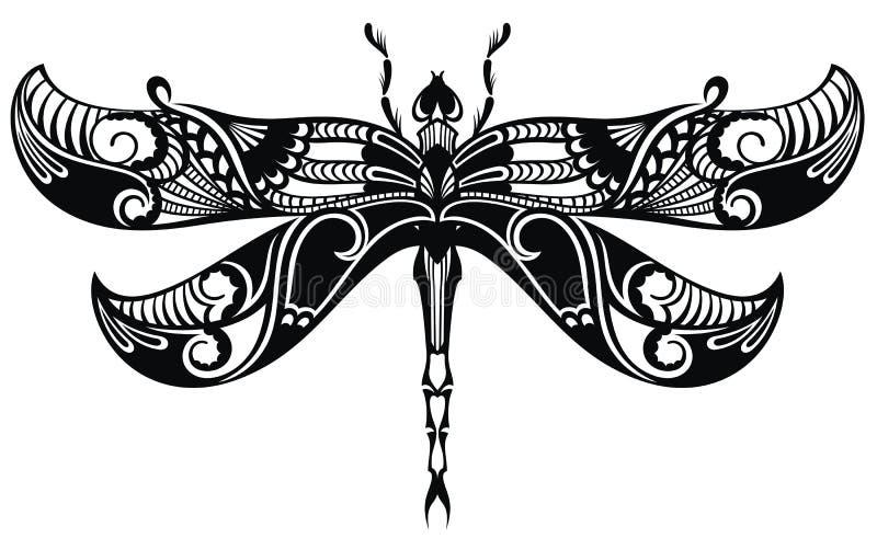 Icono de la silueta de la lib?lula Tatuaje Design libre illustration