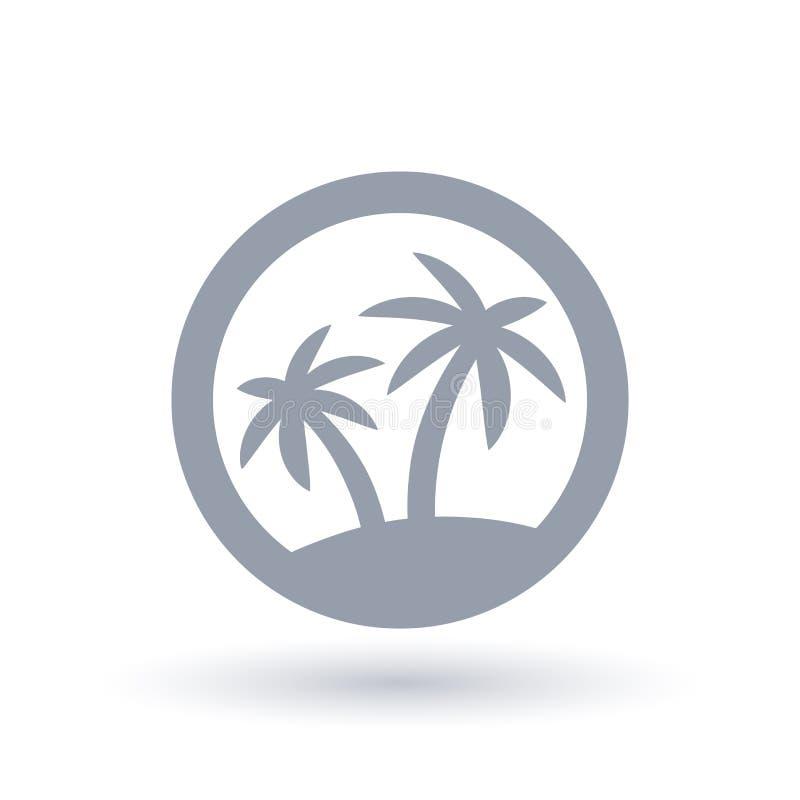 Icono de la silueta de la palmera Símbolo tropical de la isla stock de ilustración
