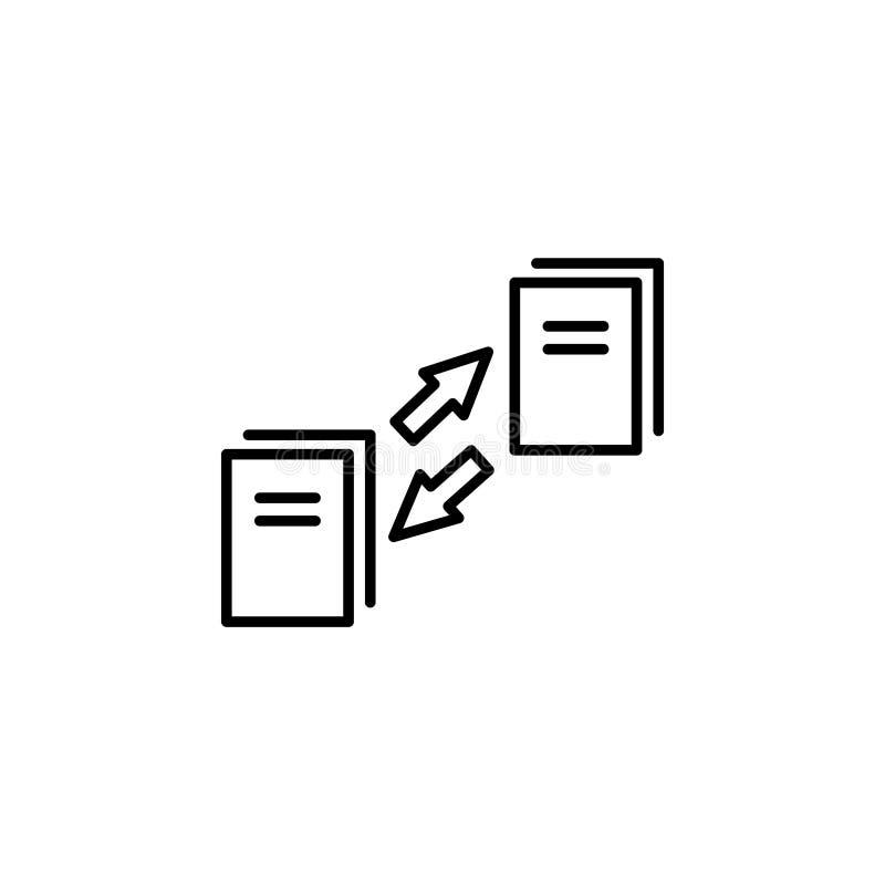 Icono de la sincronización de datos Vector ilustración del vector