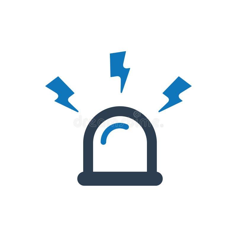 Icono de la sirena stock de ilustración