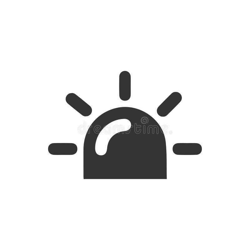 Icono de la sirena ilustración del vector