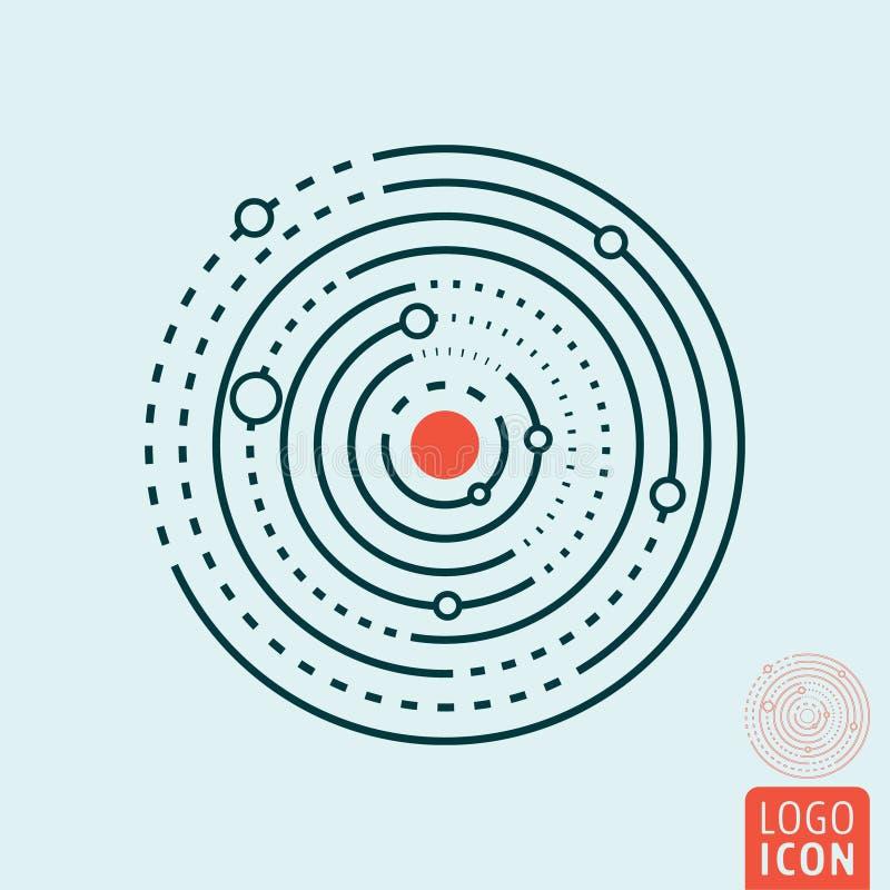 Icono de la Sistema Solar stock de ilustración
