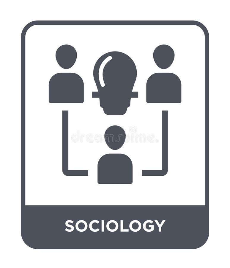 icono de la sociología en estilo de moda del diseño icono de la sociología aislado en el fondo blanco plano simple y moderno del  ilustración del vector