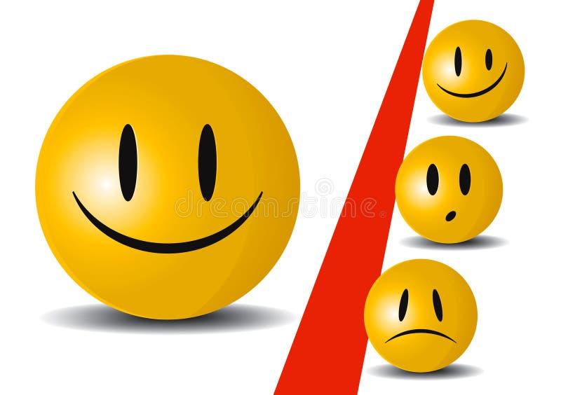 Icono de la sonrisa stock de ilustración