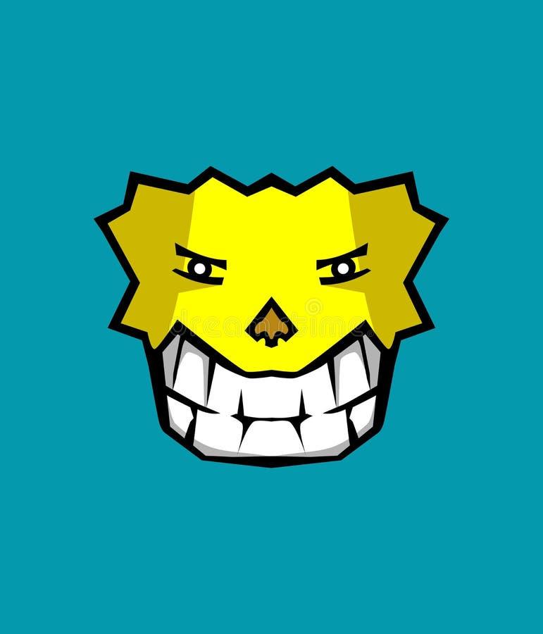 Icono de la sonrisa del fondo del perro fresco foto de archivo libre de regalías