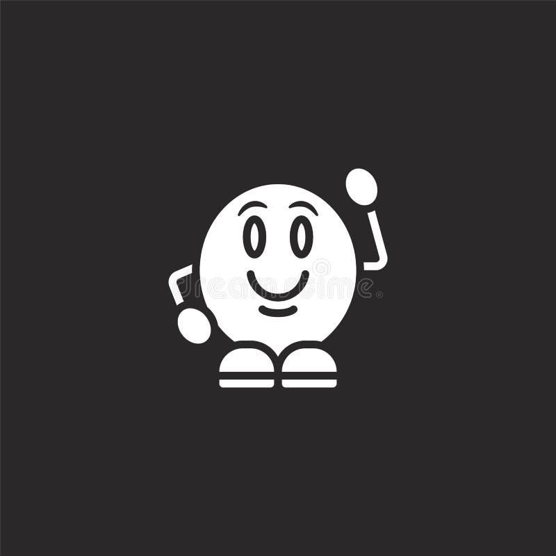 Icono de la sonrisa Icono llenado de la sonrisa para el diseño y el móvil, desarrollo de la página web del app icono de la sonris stock de ilustración