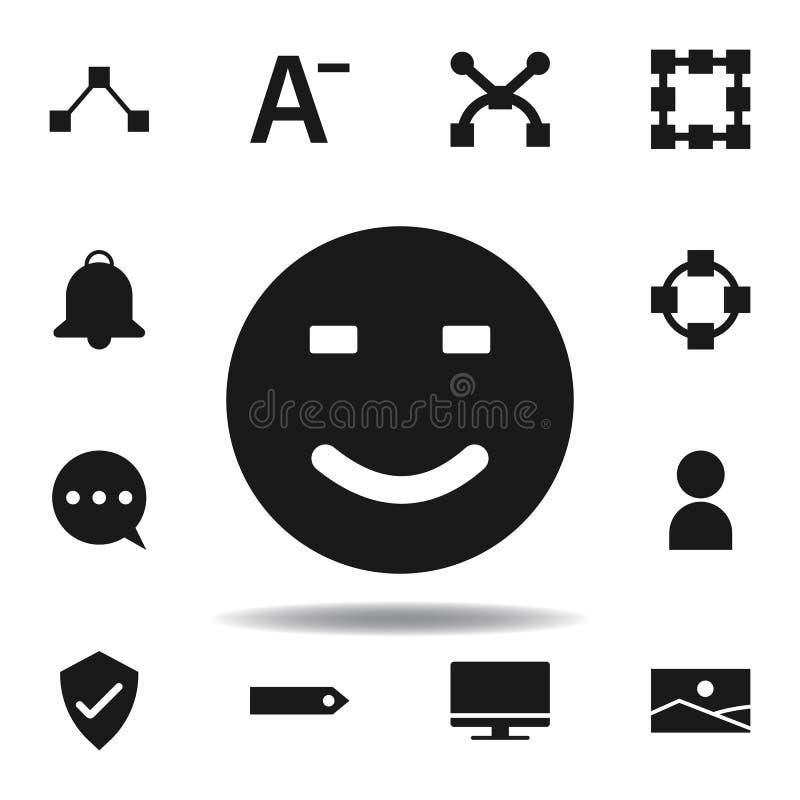 icono de la sonrisa de la p?gina web del usuario fije de iconos del ejemplo de la web las muestras, símbolos se pueden utilizar p stock de ilustración
