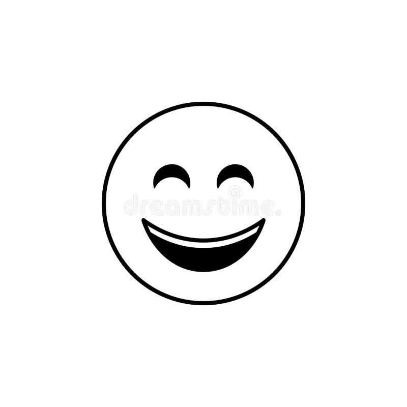 Icono de la sonrisa Sistema detallado de avatares de los iconos de las profesiones Línea superior diseño gráfico de la calidad Un stock de ilustración