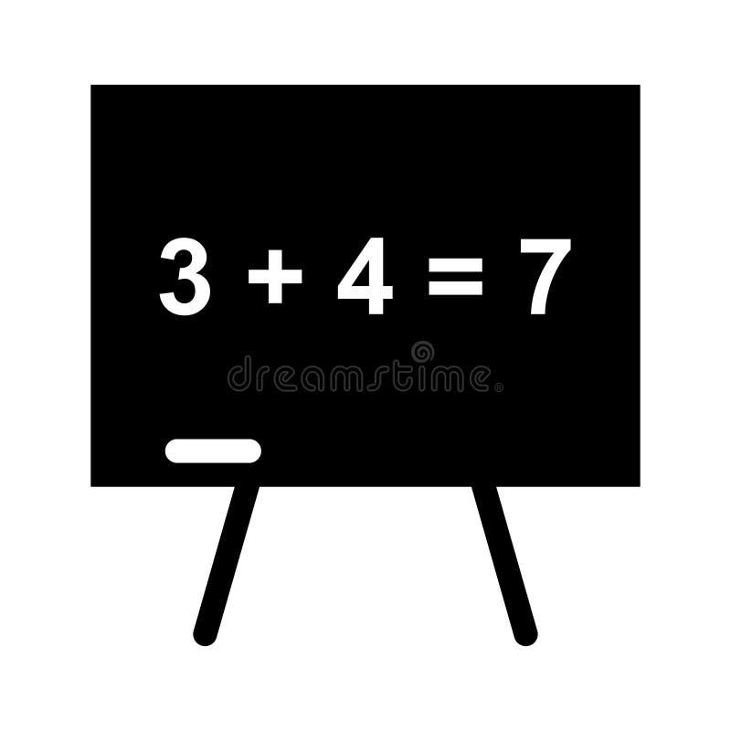Icono de la suma de la adición ilustración del vector