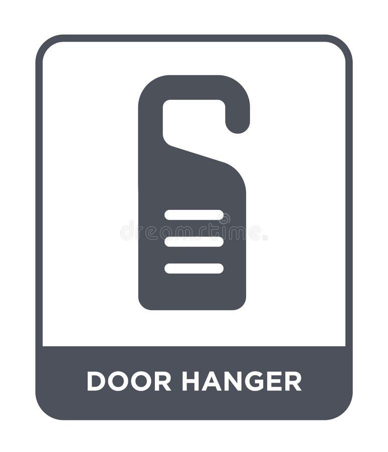 icono de la suspensión de puerta en estilo de moda del diseño icono de la suspensión de puerta aislado en el fondo blanco icono d stock de ilustración