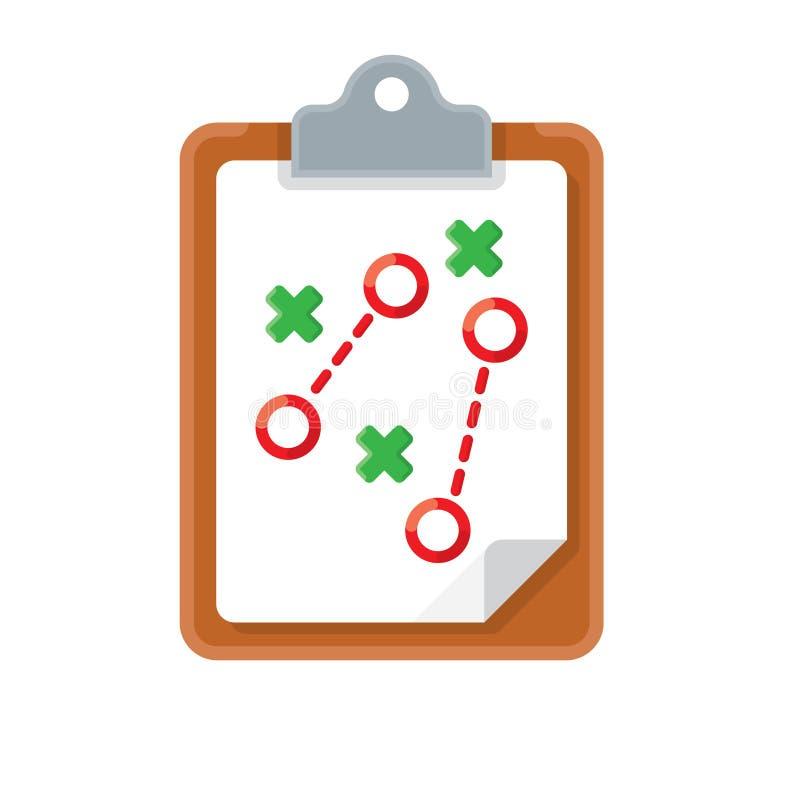 Icono de la táctica del plan stock de ilustración
