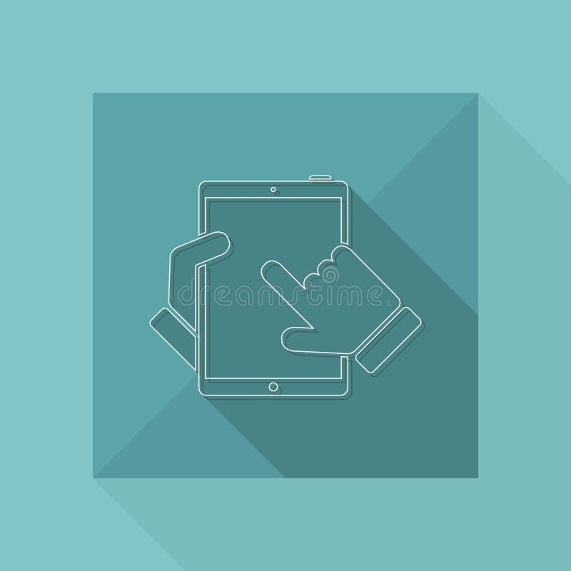 Icono de la tableta ilustración del vector