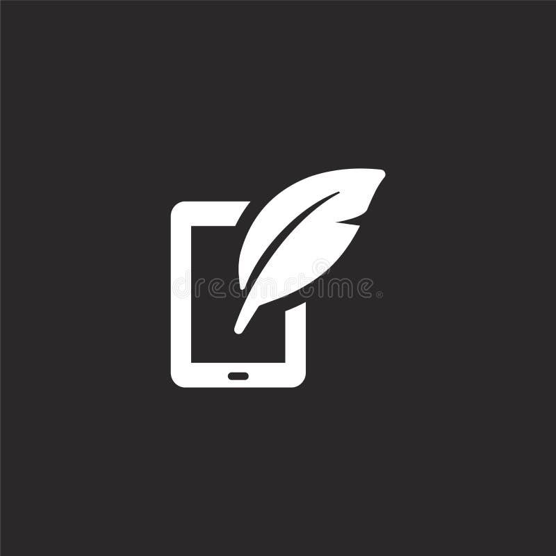 Icono de la tableta Icono llenado de la tableta para el diseño y el móvil, desarrollo de la página web del app icono de la tablet stock de ilustración