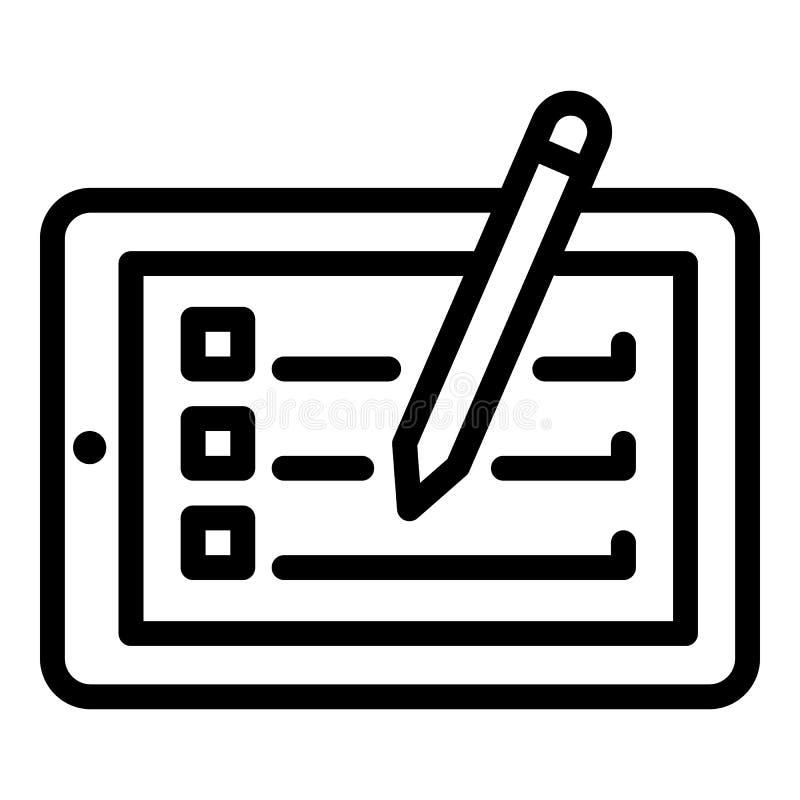 Icono de la tableta y de la aguja, estilo del esquema libre illustration