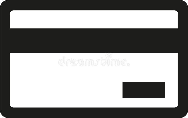 Icono de la tarjeta de crédito stock de ilustración