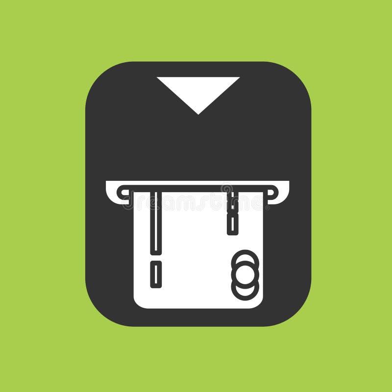 Icono de la tarjeta de crédito del parte movible de la transacción del pago de la atmósfera libre illustration