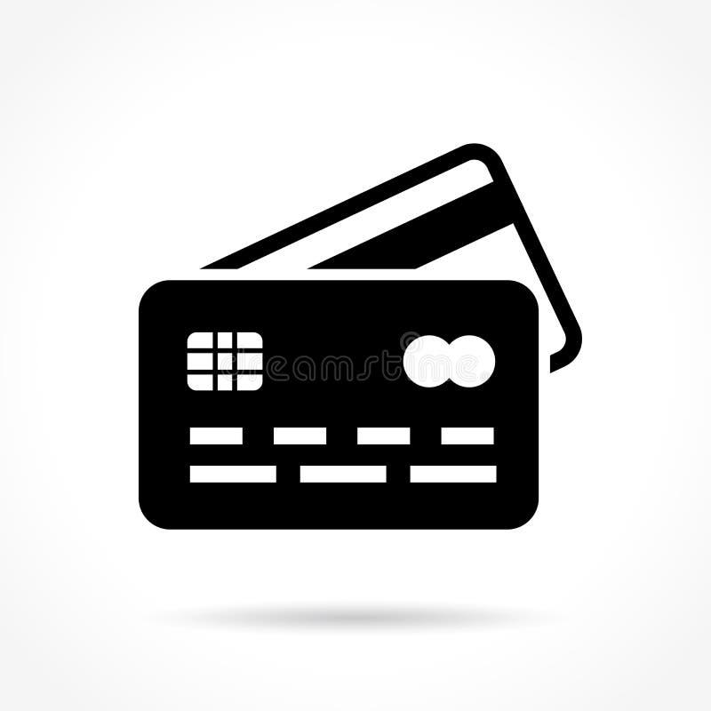 Icono de la tarjeta de crédito en el fondo blanco stock de ilustración
