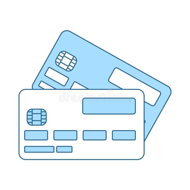 Icono de la tarjeta de cr?dito stock de ilustración