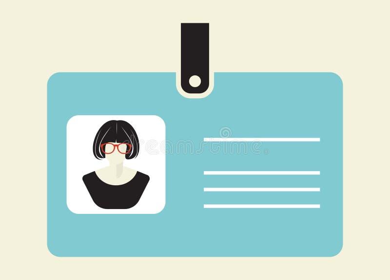 Icono de la tarjeta de la identificación libre illustration