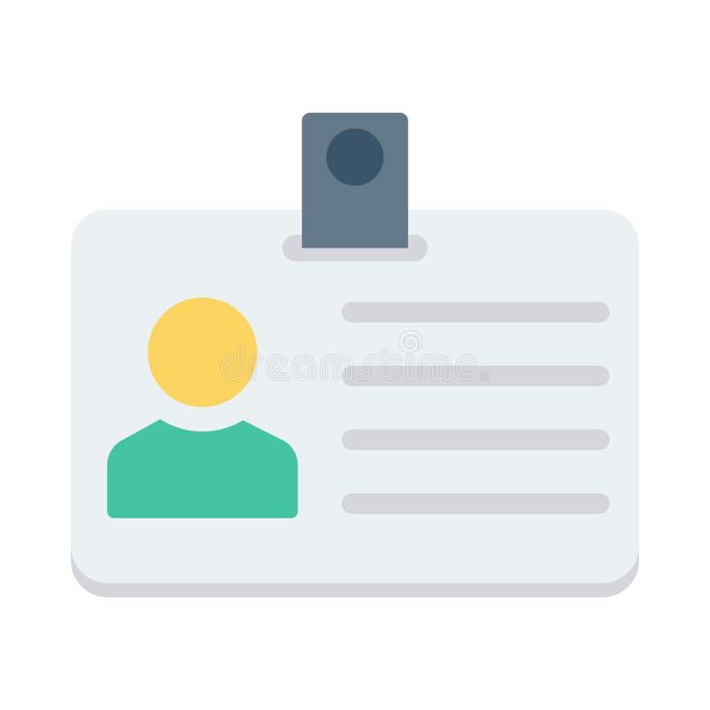 Icono de la tarjeta de la identificación stock de ilustración
