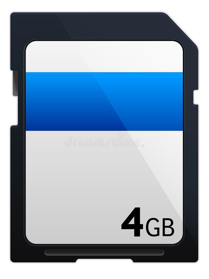 Icono de la tarjeta de memoria del SD stock de ilustración