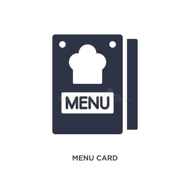 icono de la tarjeta del menú en el fondo blanco Ejemplo simple del elemento del concepto de los bistros y del restaurante ilustración del vector