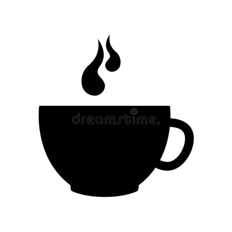 Icono de la taza de café Símbolo plano aislado Ejemplo de la muestra del vector en blanco ilustración del vector