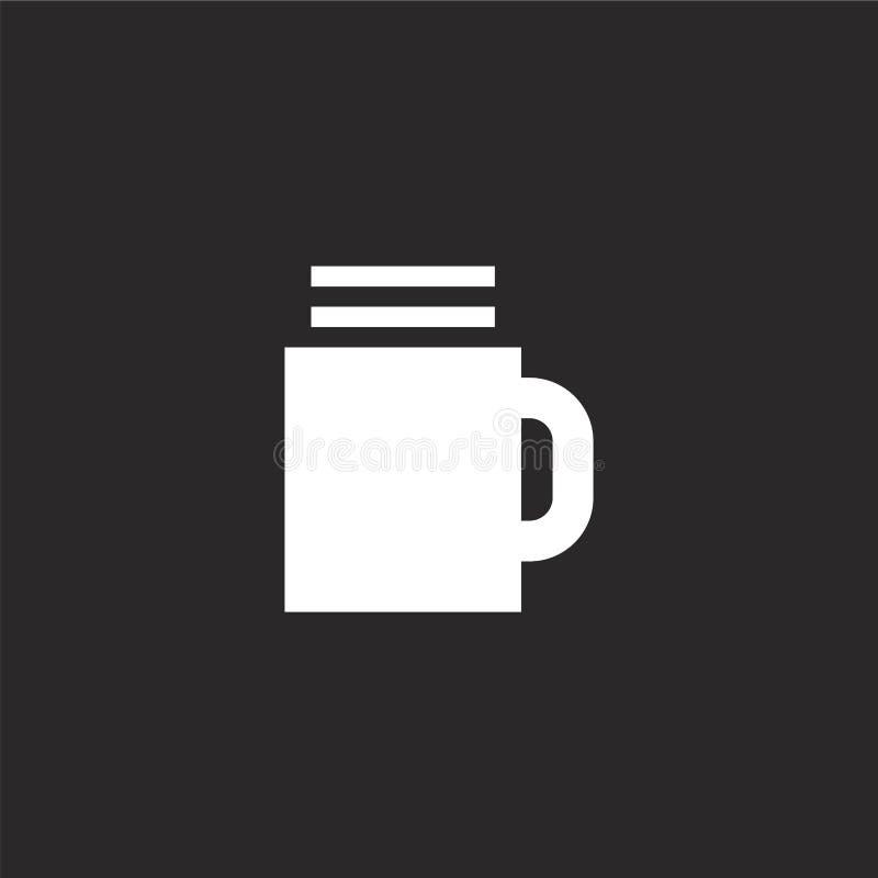 Icono de la taza de cerveza Icono llenado de la taza de cerveza para el diseño y el móvil, desarrollo de la página web del app ic stock de ilustración
