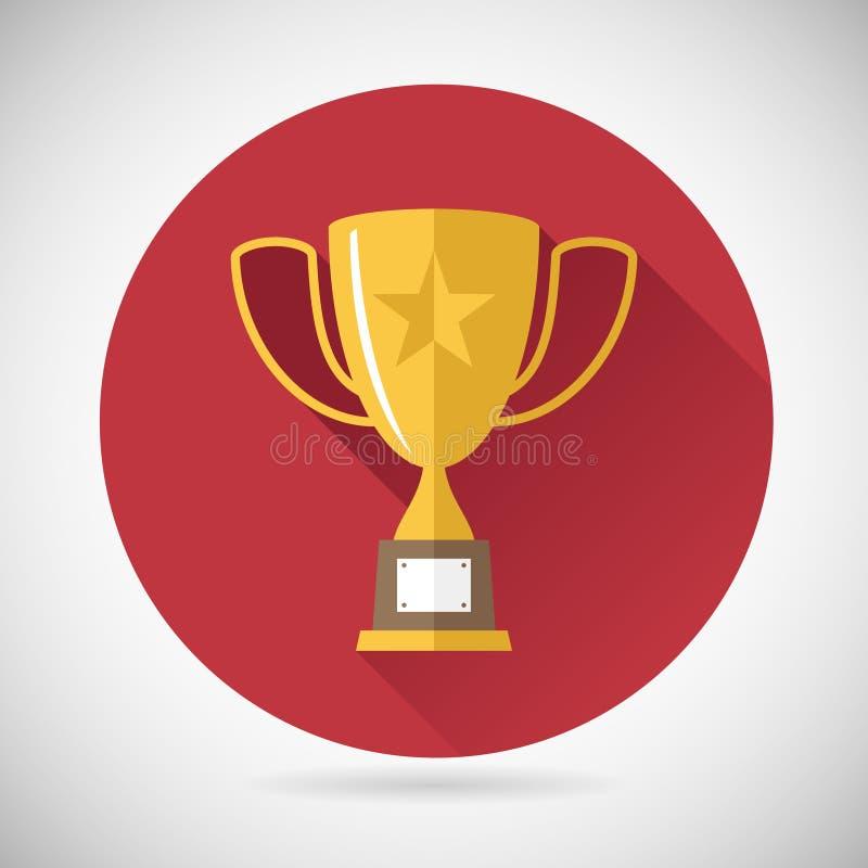 Icono de la taza de Victory Prize Award Symbol Trophy encendido foto de archivo