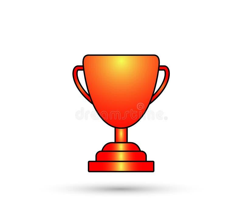 Icono de la taza del color del brillo del trofeo del ganador libre illustration