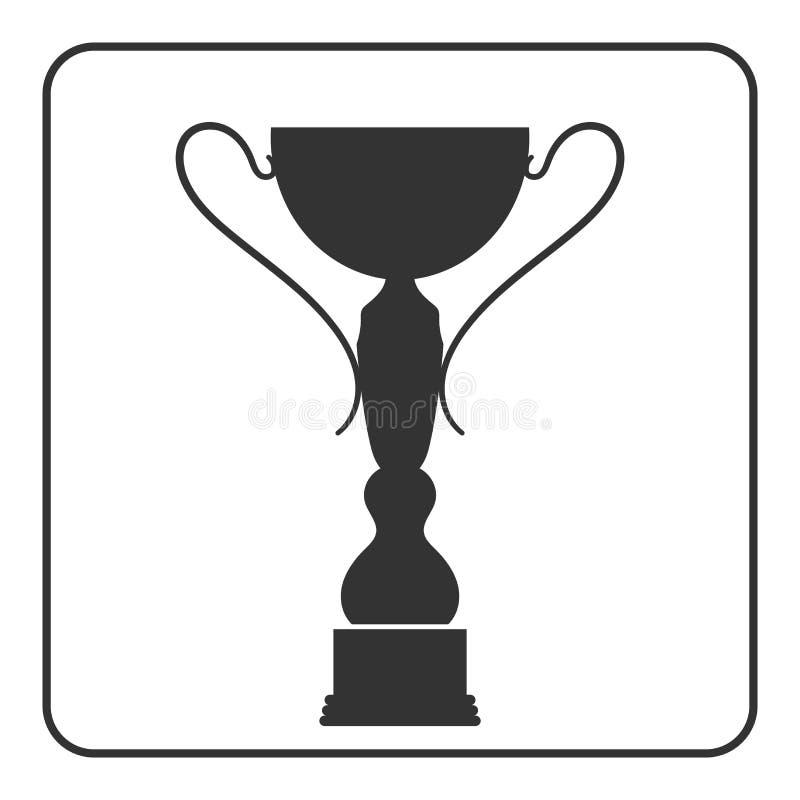 Icono 14 de la taza del trofeo stock de ilustración