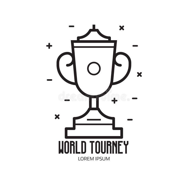 Icono de la taza del trofeo del deporte ilustración del vector