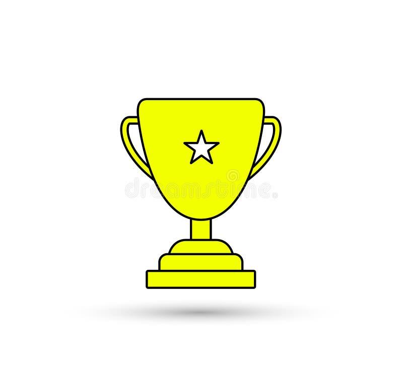 Icono de la taza del trofeo del ganador ilustración del vector