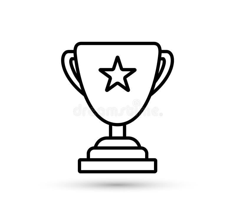 Icono de la taza del trofeo del ganador libre illustration