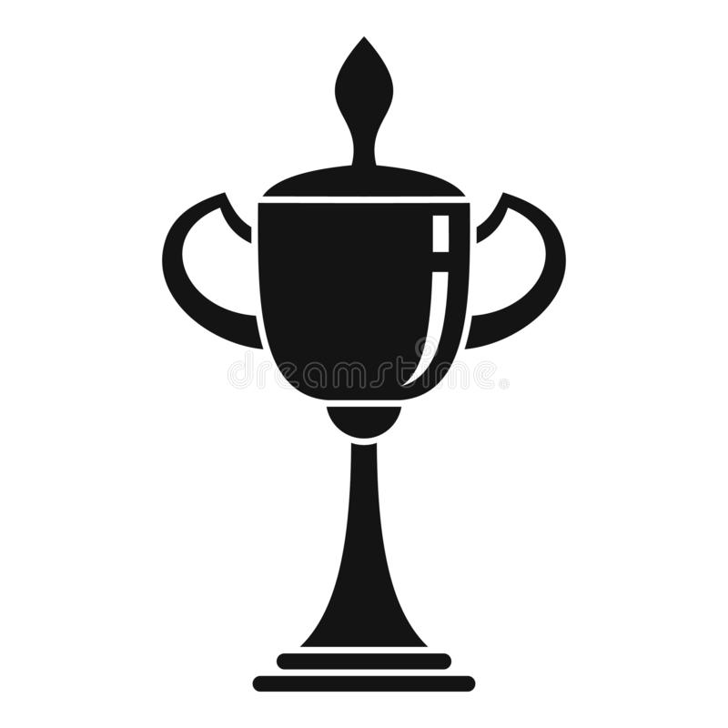 Icono de la taza del voleibol del oro, estilo simple libre illustration