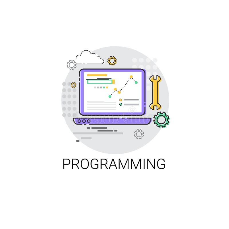 Icono de la tecnología del dispositivo de programación de equipo de desarrollo del software libre illustration