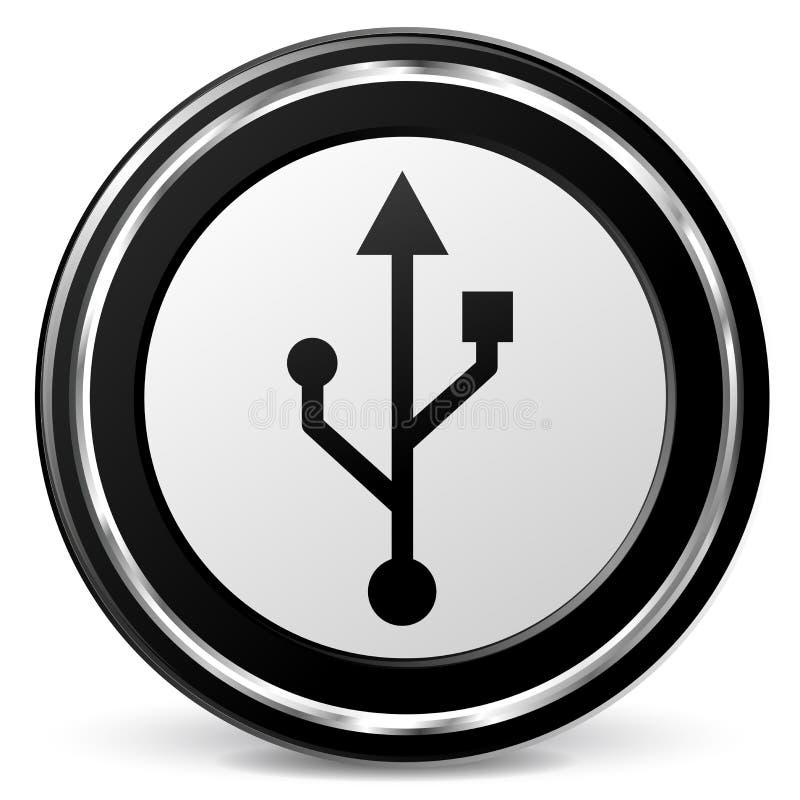 Icono de la tecnología del Usb ilustración del vector